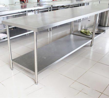 Đơn vị cung cấp giá bàn chặt inox chất lượng